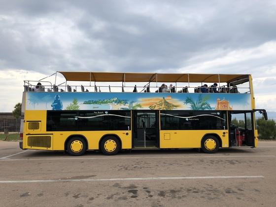 Der gelbe Bus in Ajaccio
