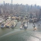 AIDAluna am Pier 88 aus dem Helicopter