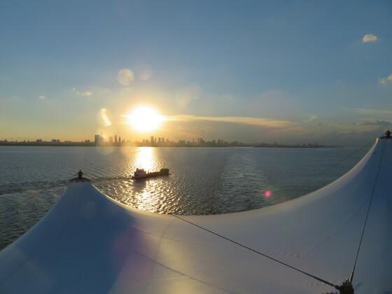 Norwegian Sun - Auslaufen in Buenos Aires