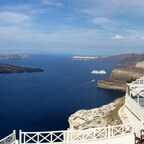 Blick in die Caldera von Santorini