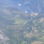 Die AIDAbella im Geiranger Fjord, vom Dalsnibba gesehen.