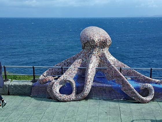 Krake Skulptur