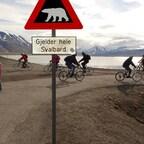 Das wohl bekannteste Verkehrsschild auf Spitzbergen