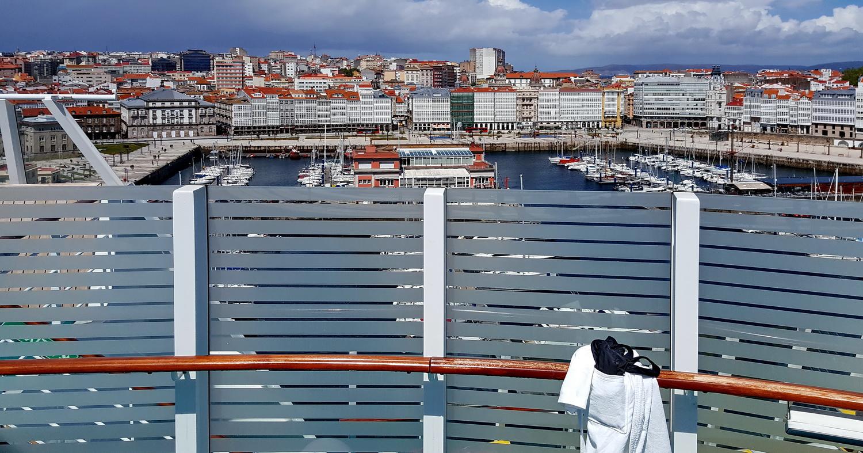 Blick auf A Coruña vom FKK Deck aus ....
