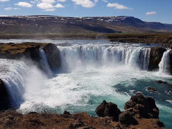 Wasserfall der Götter in Island oder auch Godafoss genannt