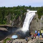 Der Montmorency Wasserfall nähe Quebec