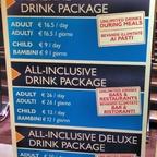 MSC Getränkepakete an Bord buchbar