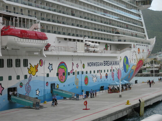 Norwegian Breakaway in Tortola