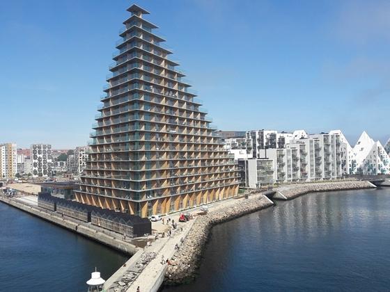 Futuristische Architektur in Aarhus