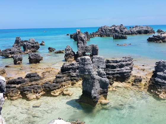Bermudas/Einsamer Strand bei Hamilton