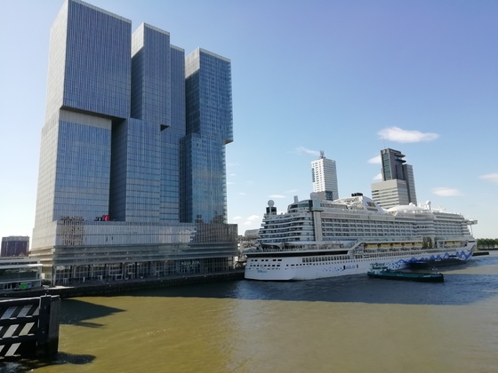 Aida Perla im Hafen von Rotterdam