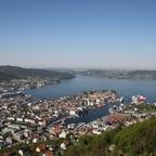 Bergen, vom Fløien aus gesehen