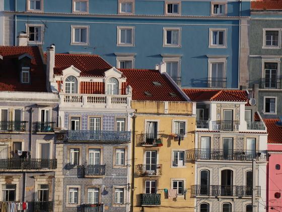 Lissabon , Stadtansicht vom Balkon der Stella