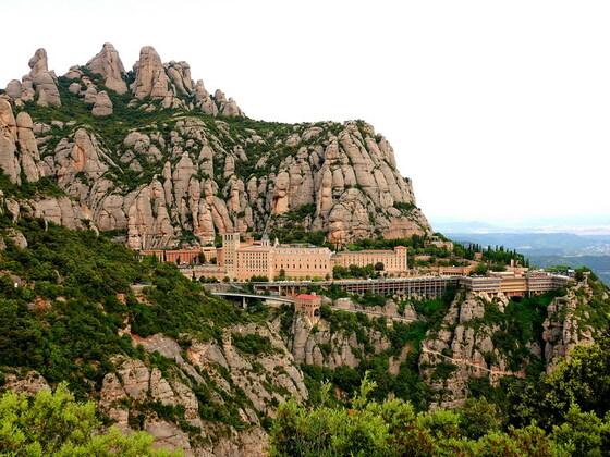 Das Kloster Montserrat (Provinz Barcelona)