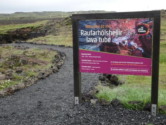 Raufarhólshellir Lava Tunnel (Island)