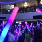 glow party im Atrium