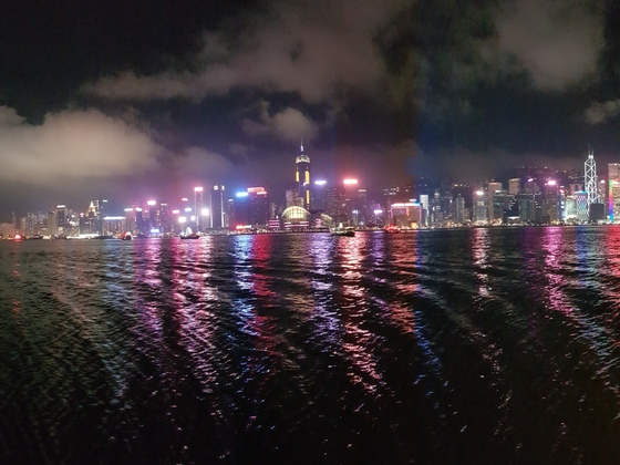 Hongkong by night (Panoramabild)