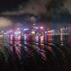 Hongkong by night (Panoramabild)