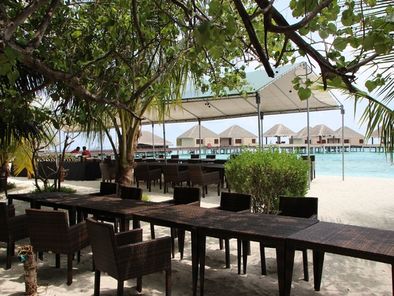 Mittagessen und Kaffe am Strand