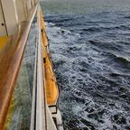 5_Seetag 1 - Blick von Kabine 8153 auf das Meer