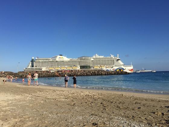 Aidaprima am Hafen von Fuerteventura 21.12.2017