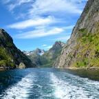 Eine kleine Erfrischung? Tschüss Trollfjord!