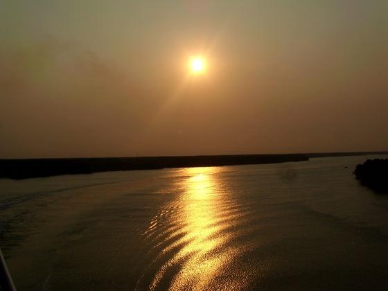 Abendstimmung über dem Mekong