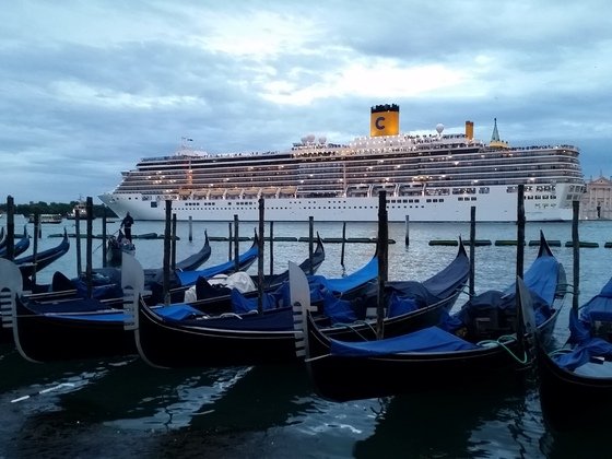 Heute Costa in Venedig.